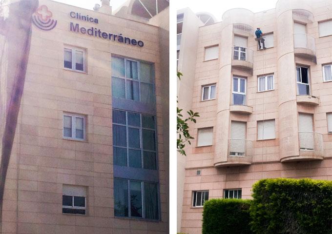 clinica-mediterraneo-revision-de-fachada-ventilada. Almería